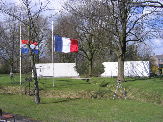 Franse SAS monument in Assen.